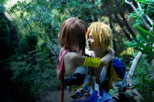 FFX  Tidus and yuna by 0hagaren0