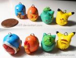 Pokemon Charms: Kanto Starters by DragonSpirit469