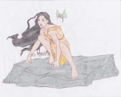 Pocahontas .:Colored:. by Figarro-Luv