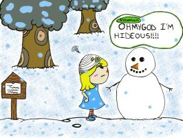 That snowman.. by megomyeggo