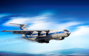 Il-76 taking off by ABiator