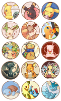 Pokemon Buttons FREE by SeviYummy