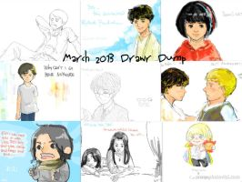 March 2013 Drawr Dump by SaerwenApsenniel