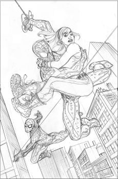 Spider-Men #3 Cover Pencils by TerryDodson