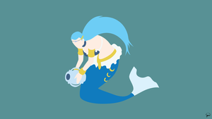 Aquarius (Fairy Tail) Minimalist Wallpaper by greenmapple17