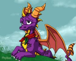 Spyro the dragon by Phylion