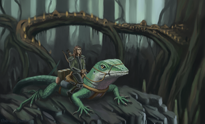 Lizard Rider by the-art-junky