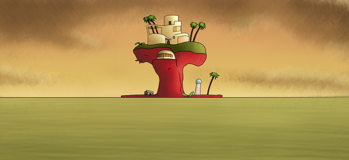 Plastic Beach Wallpaper (Gorillaz) by UnPausinator