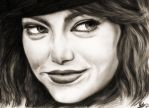 emma stone by rayjaurigue