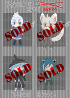 Chibi Adopts - Pokemon Chibi Gijinkas Set 1 SOLD by Maipee-Chan