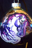 Merlot horse ornament by ryliecat