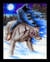 Demon of the winter's forest by ArtOfThePawAndFang