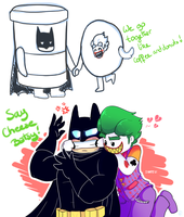 Say cheese Batsy! by Kyumiku