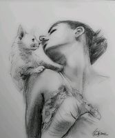mandatory daily cat sketch 813 by nosoart