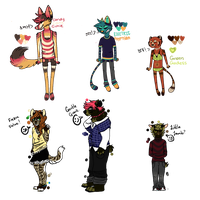 Collab Anthro Adopts! closed nerds by cykas