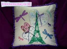 Paris Pillow 1 by MrsSewing