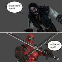 Injustice: Lobo vs Deadpool by xXTrettaXx