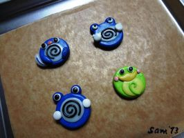 Poliwag and friends badge before baking by dsam4