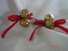 Decorative golden bells by WildRoseWorkshop