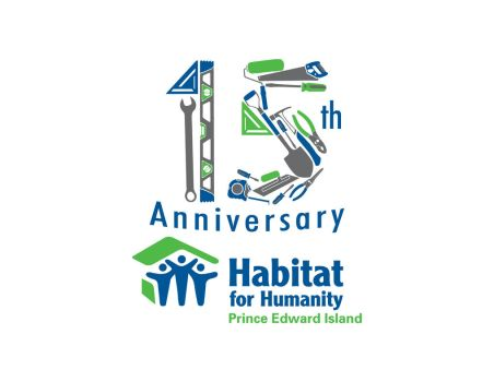 Habitat for Humanity PEI 15th Anniversary Logo by StepFar
