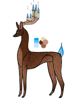Wooden Candleer - CLOSED by SwarThylacine-Adopts