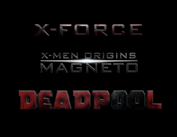 X-Men: MAGNETO - DEADPOOL - X-FORCE : LOGO by MrSteiners