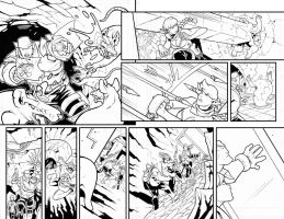 Skullkickers 22 Page 18 and 19 Inks by edwinhuang