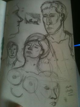 Parades End sketches by wolfinmyheart