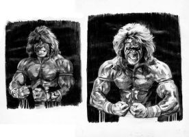 The Ultimate Warrior sketch by sabbathsoul
