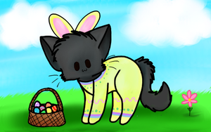Easter Cat by Sweetnminty