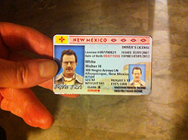 Breaking Bad Walter White`s Driver`s License prop by james7371