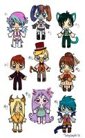 :Adopts: Assorted Styles -CLOSED- by oddlittleleaf