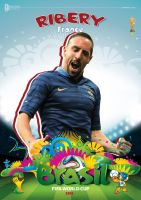 RIBERY WORLD CUP 2014 POSTER by asendos