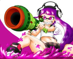 Splatoon Cannon of Deadly Ink of the Death by dashahead