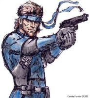 Solid Snake by CarolaFunder