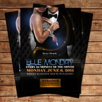 Blue Monday Party Flyer by Adriano09