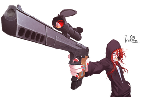 Girl with gun .png by IrisHiko