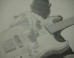 Bass Player Sketch by taintedclosure