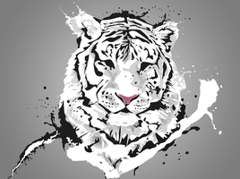 White tiger by dragonscreative