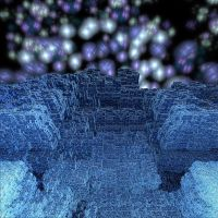Blue Stone Place in OuterSpace by crotafang