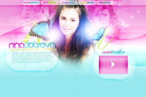 Nina Dobrev Layout by Nikola94