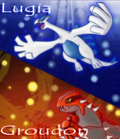 Pokemon Lugia and Groundon by TheXHero