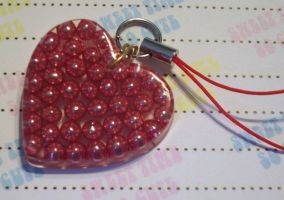 Shiny ball phone charm by Daisy--Chains