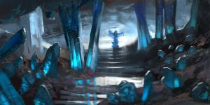 blue cave by Ketka