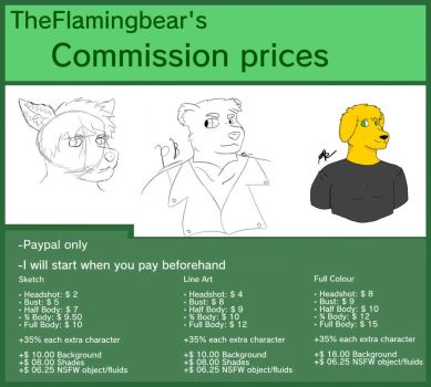 Theflamingbear's commissions! by Theflamingbear
