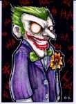 Joker Sketch Card Commission by dsilvabarred