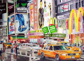 New York City Watercolor by Rollingboxes