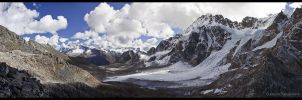 View from Karchung La 5120m by Dominion-Photography