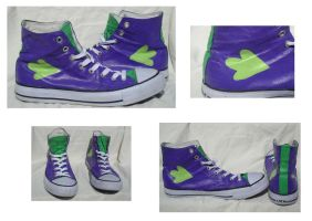 My Little Pony Spike Cosplay Canvas High-Top Shoes by SneakeryGeekery