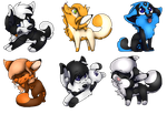 Chibi batch fox by Blind-Kidd